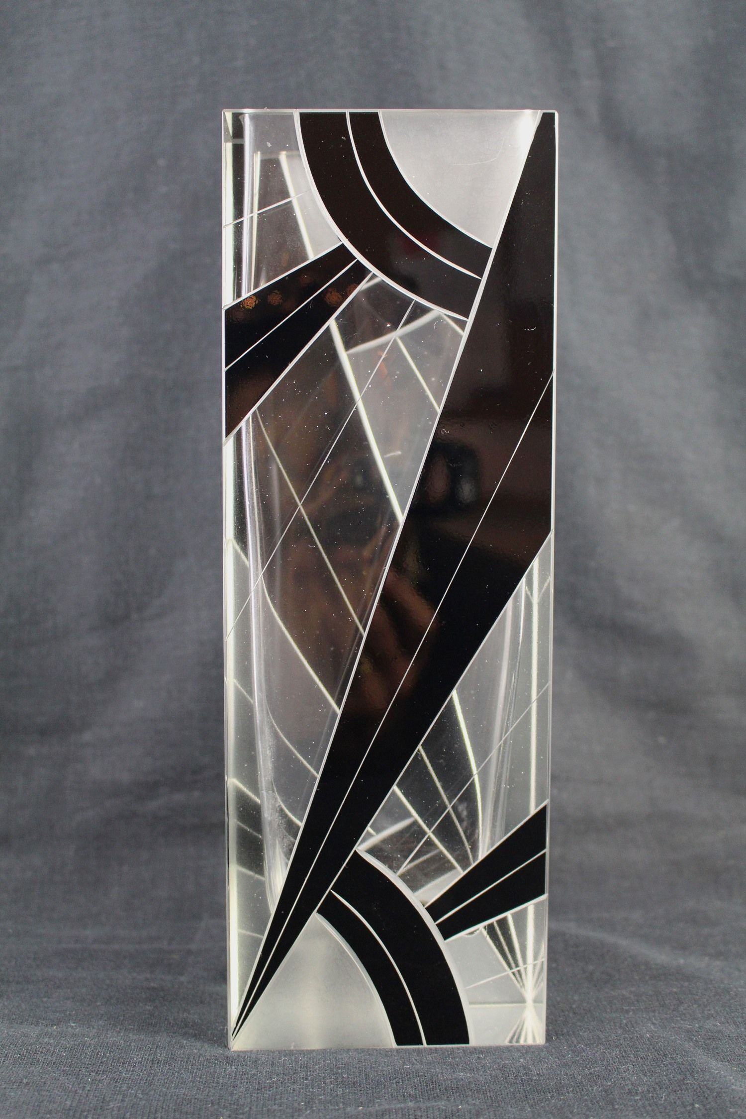 Art deco glass vases jeroen markies art deco pinterest an art deco glass vase with frosted and black geometric design floridaeventfo Image collections