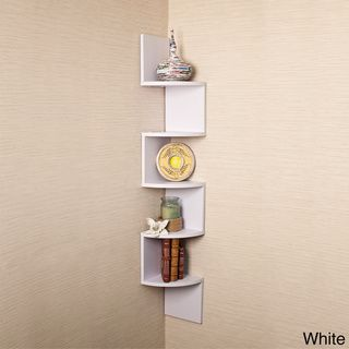 Danya B Large Decorative 5 Tier Corner Floating Wall Mount Display Shelving Unit Wall Mounted Corner Shelves Wall Mounted Shelves Corner Wall Shelves