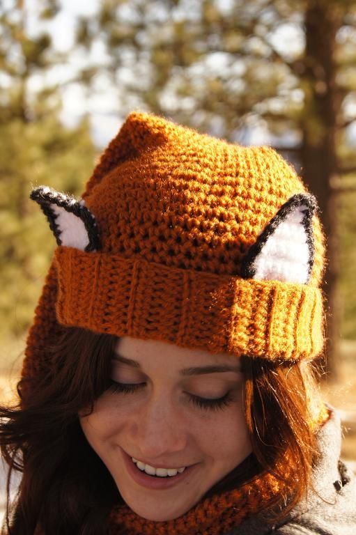 Crocheted Fox Scarf - Hat (Scat) @Julie Whitt for maky what does a ...