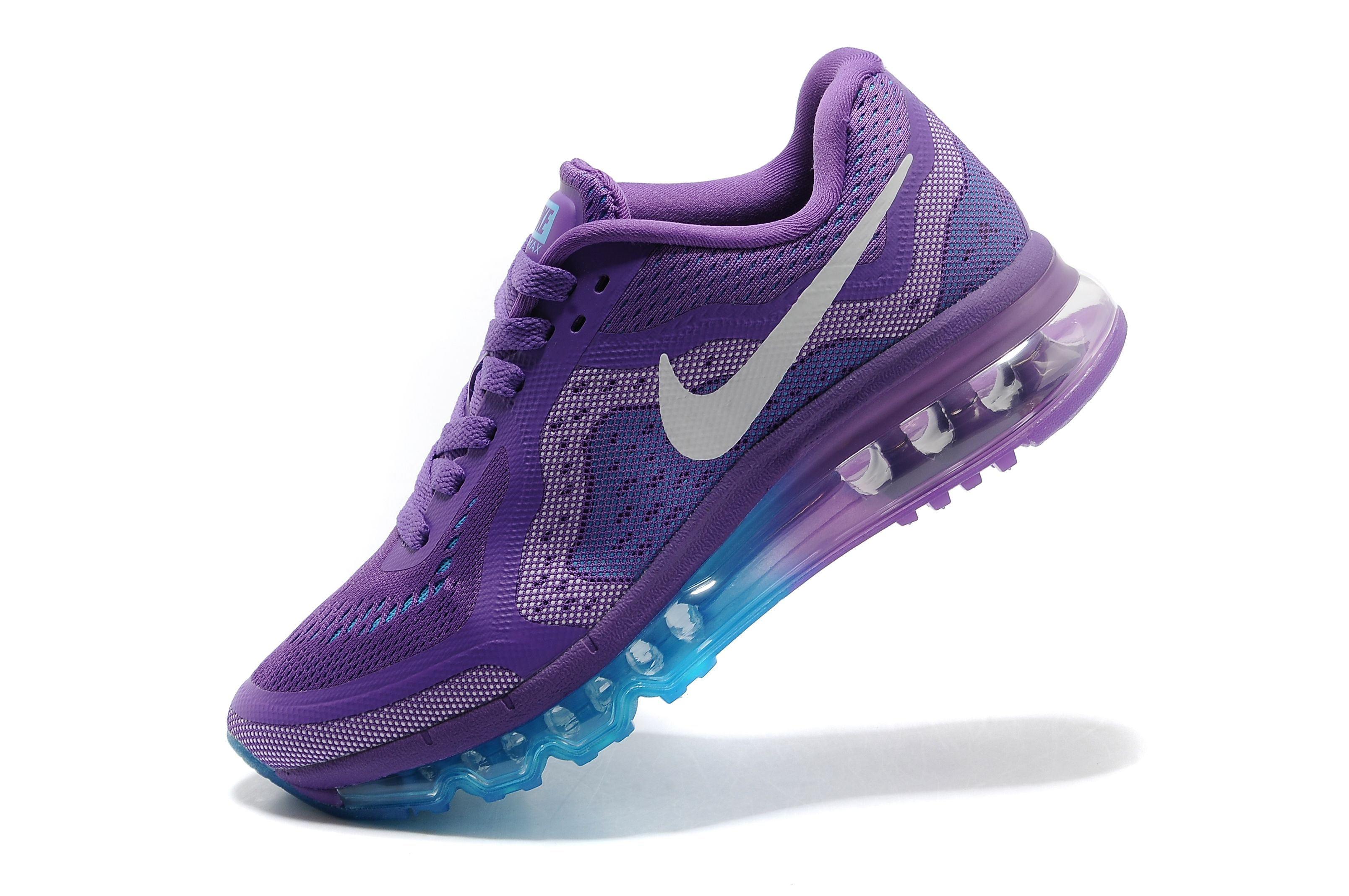 Nike Air Max 2014 Womens Running Shoes Purple White Blue.jpg (3216×2136