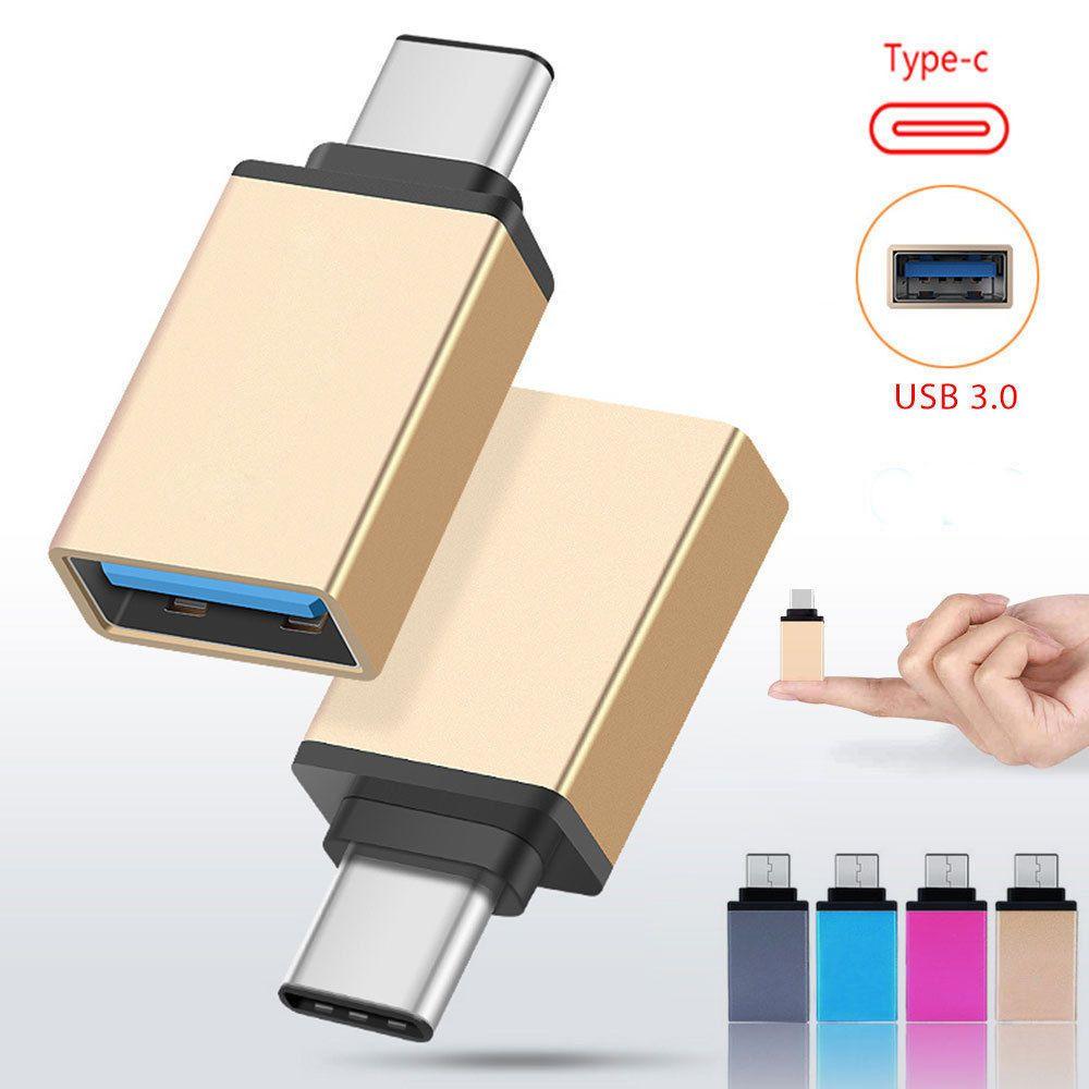 USB 3.0 Female to USB 3.1 Type C Male Converter USB-C OTG Adapter Aluminium Mini USB 1PC