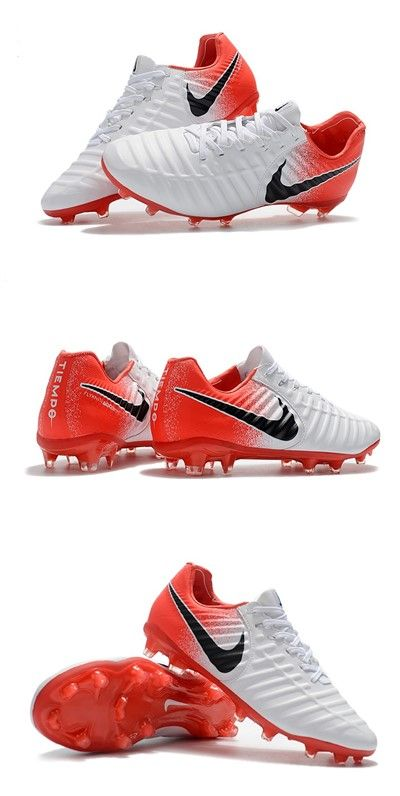 New Nike Tiempo Legend Vii Fg Kangaroo Boots White Red Black Cool Football Boots Soccer Shoes Soccer Boots