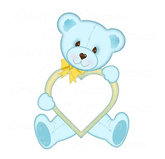 ON SALE Teddy bear frames cute framesphoto frame от CraftbyCarmen ...