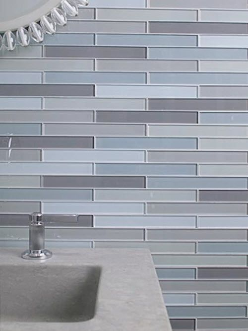 35 Blue Grey Bathroom Tiles Ideas And Pictures Grey Blue Bathroom Tile Bathroom Beige Glass Tiles