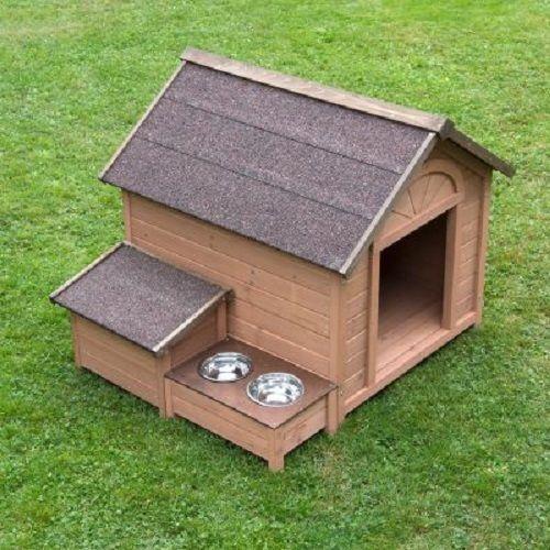 Dog Kennel Sturdy Large Storage Food Water bowls raised feed…