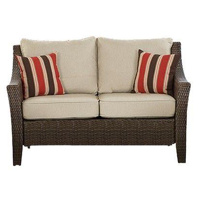 Amazing Target Target Home Rolston Wicker Patio Loveseat Image Creativecarmelina Interior Chair Design Creativecarmelinacom