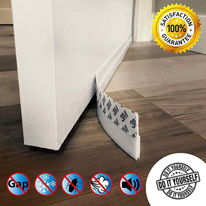 Amazon Com Door Draft Stopper High Performance Silicone Door Sweep W Vhb Adhesive 3m Strip Draft Blocker For U Door Draught Stopper Door Draft Draft Guard