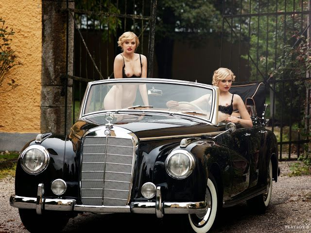 Anna and Lisa Heyse - German Playmates of the Month for February 2012 Mercedes Benz 300
