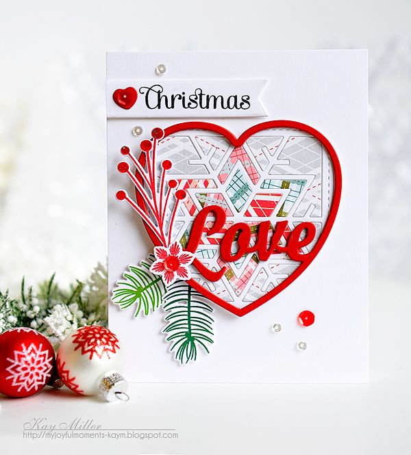 Christmas Love Card By Kay Miller For Papertrey Ink December 2015
