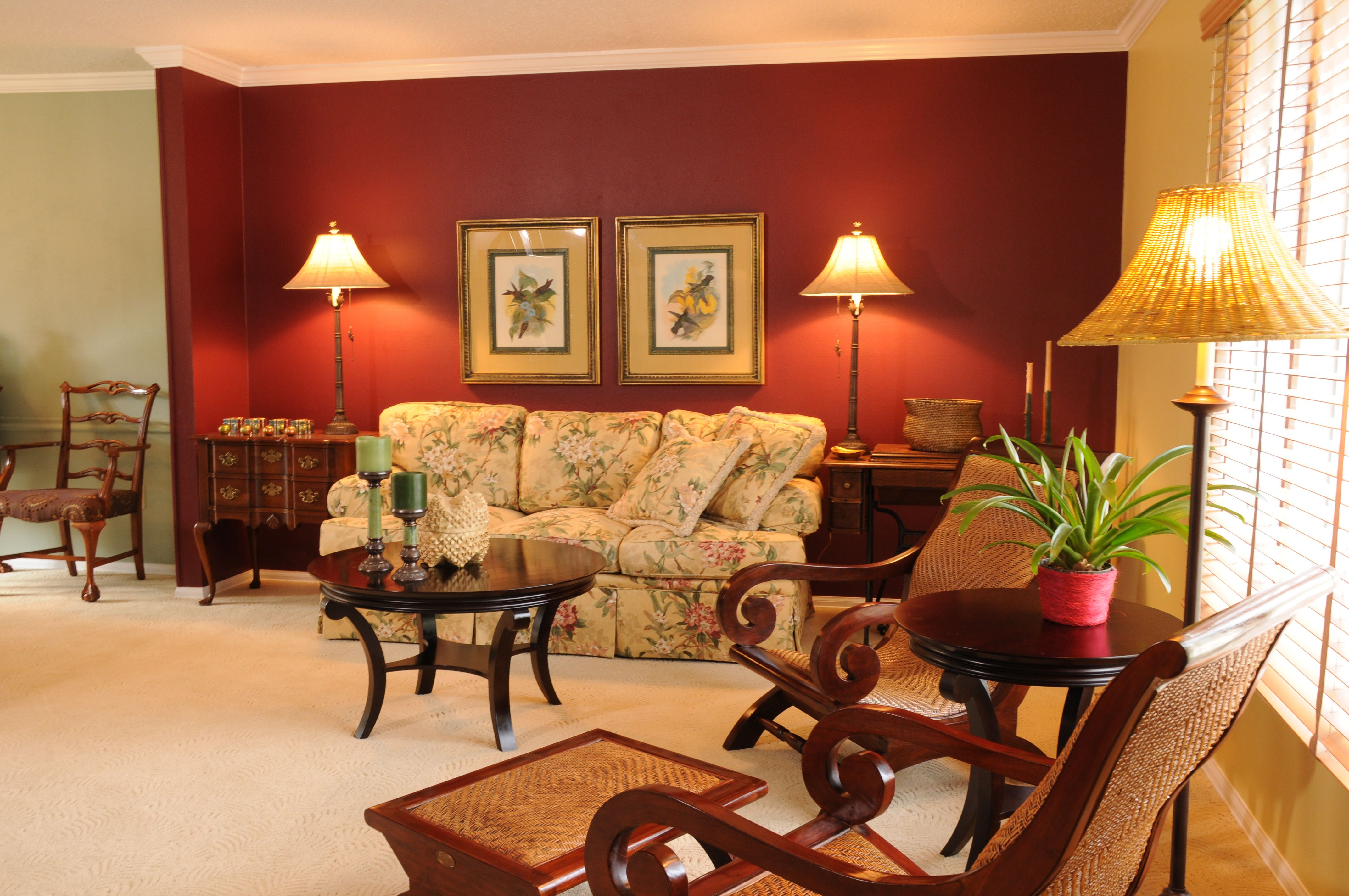 living area remodel red accent wall living room on extraordinary living room ideas with lighting id=58495