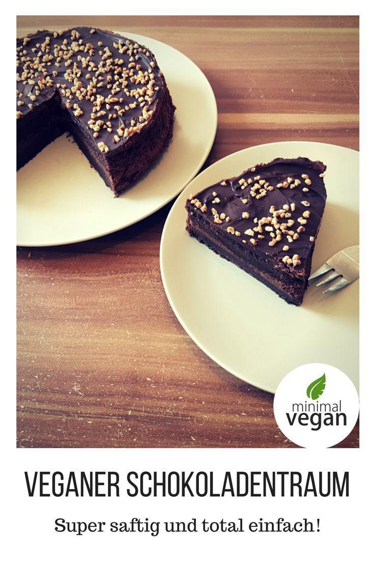 Veganer Schokoladentraum – super saftig, schokoladig, süß mit einer köstliche… – Vegan sweets