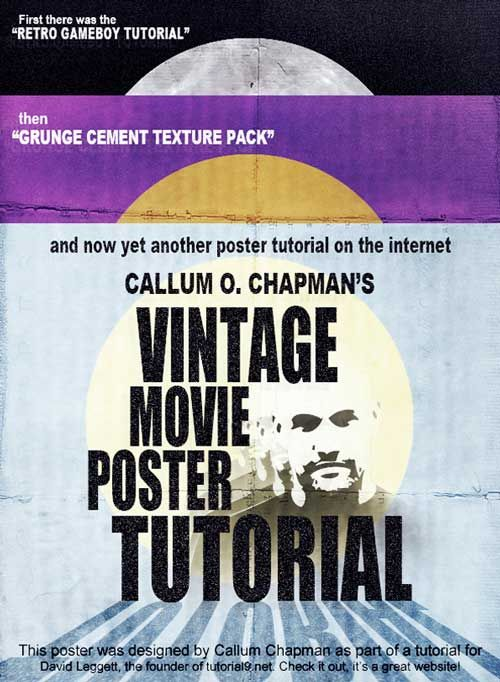 How To Design A Vintage Horror Movie Poster In Photoshop Poster Design Tutorials Poster Tutorial Photoshop Poster Design