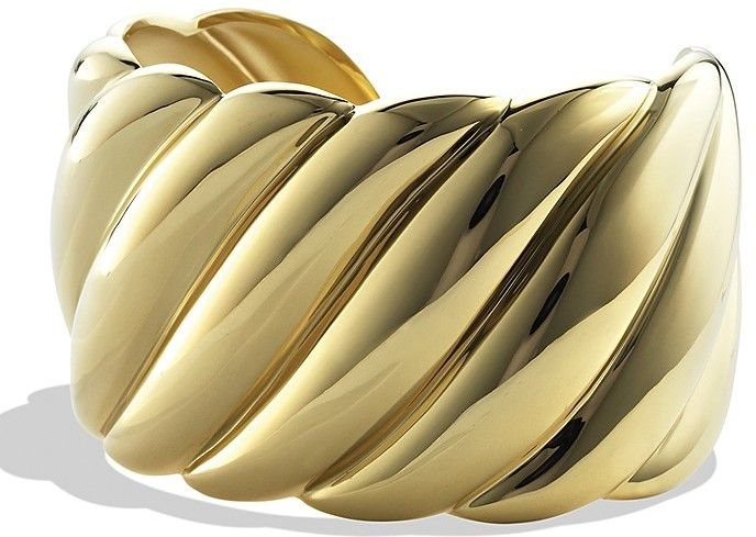 dd1865ae388 David Yurman Sculpted Cable Wide Cuff in Gold on shopstyle.com ...