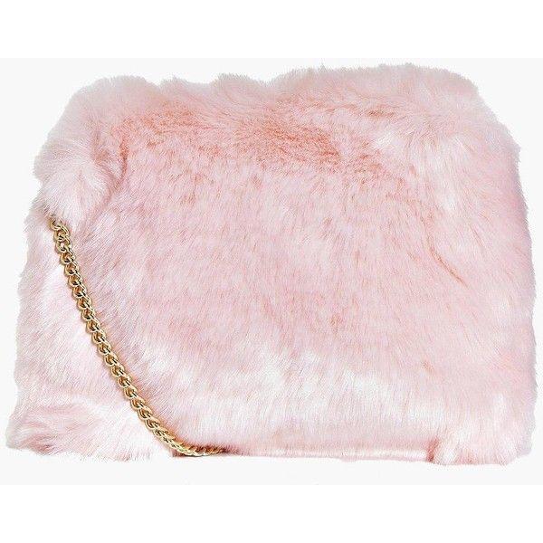 e5879f825f3b Boohoo Kara Fluffy Faux Fur Cross Body Bag