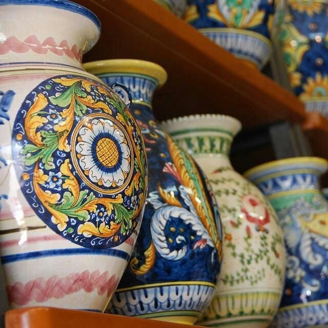 Sicilian pottery. & Sicilian pottery.. | Italian Pottery | Pinterest
