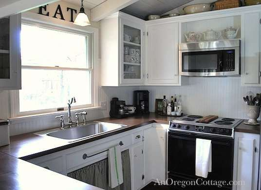 10 Total Kitchen Makeovers—and What They Cost   White farmhouse ...