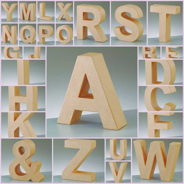 details about paper mache large cardboard letters signs 3d craft 175cm choose letter