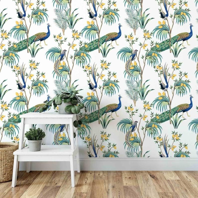 Chinoiserie Wallpaper Peel and Stick Wallpaper Removable