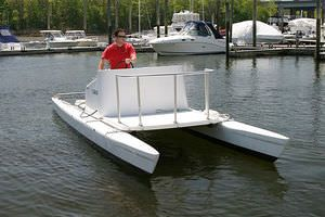 Open motor boats open power catamarans all boating and for Catamaran fishing boat manufacturers