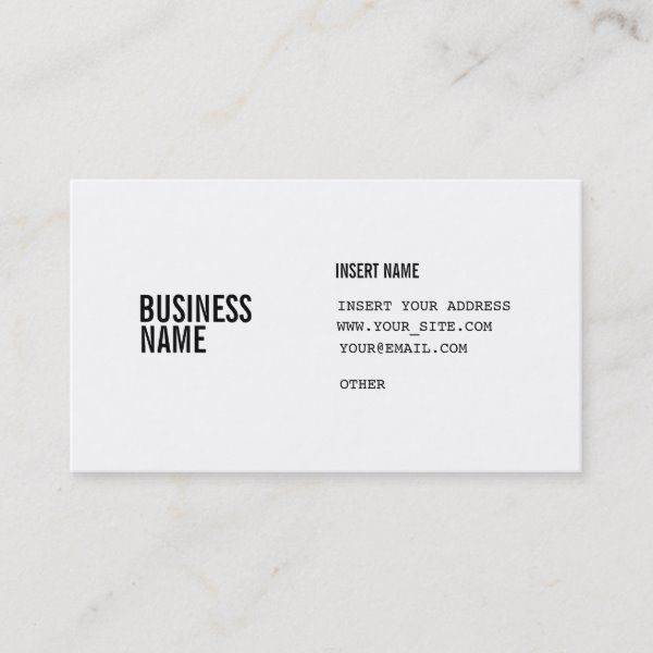 format with columns condensed fonts business card  zazzle