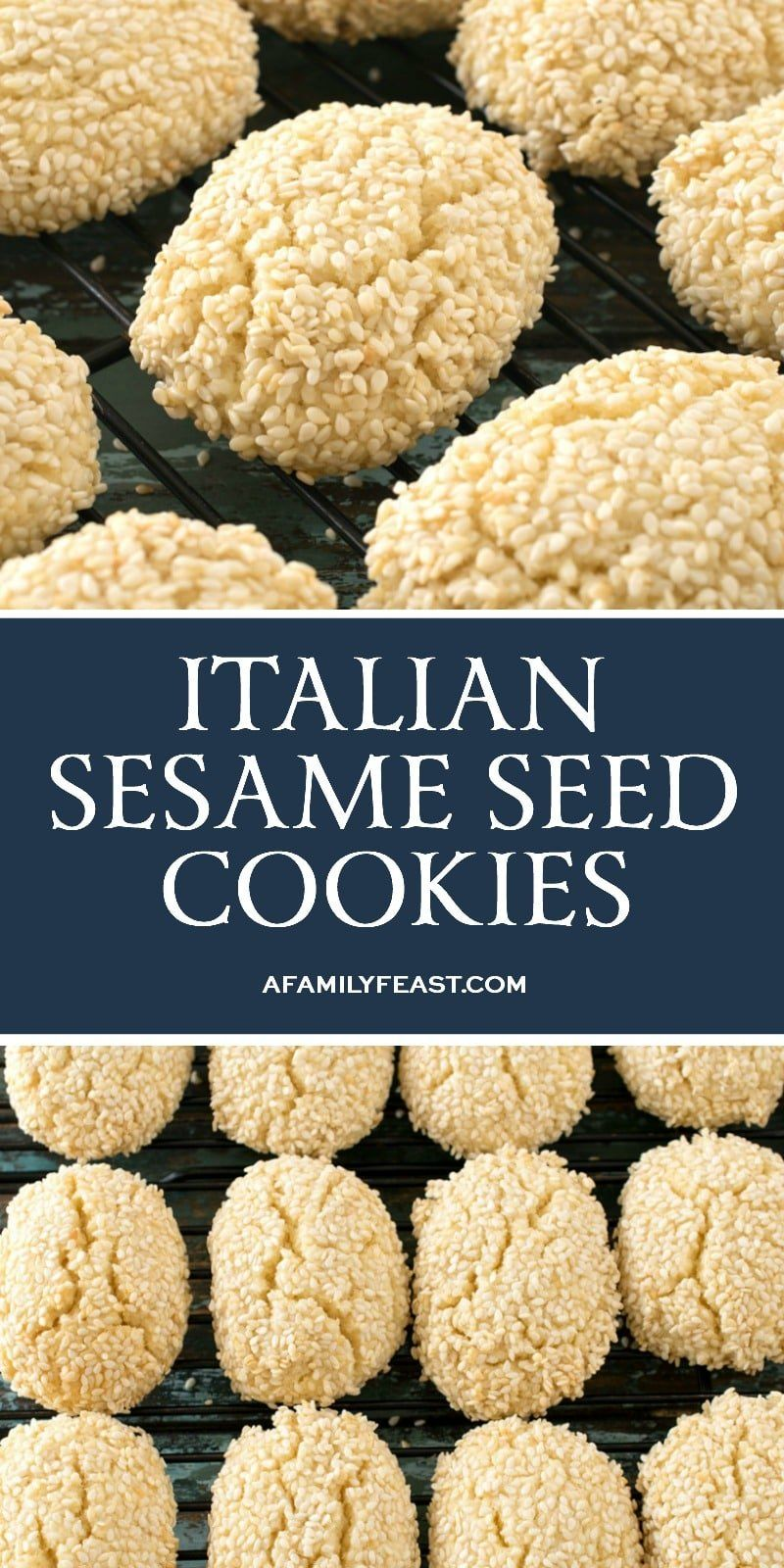 Italian Sesame Seed Cookies - A Family Feast®