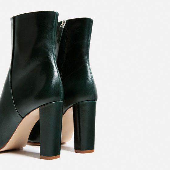 Image 6 of LEATHER HIGH HEEL ANKLE BOOTS from Zara | clothes ...