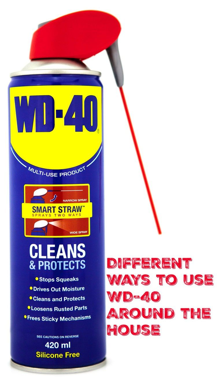 Different Ways To Use Wd 40 Around The House Wd 40 Easy Cleaning Hacks Wd 40 Uses