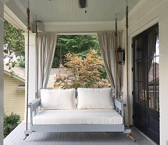Die All American Bed Swing Hangende Bett Schaukel In Voller Grosse Von Vier Eichen Bett Schaukeln Kinder Bett Porch Swing Bed Porch Swing Outdoor Curtains