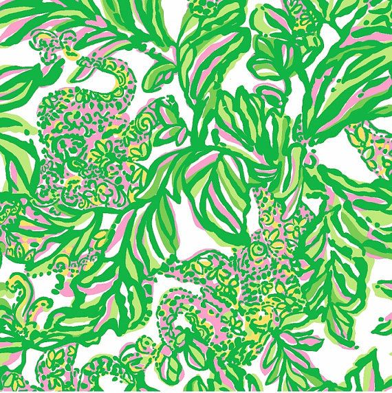 Lilly Pulitzer fabric Resort White Seeing Pink by PalmBeachLilly