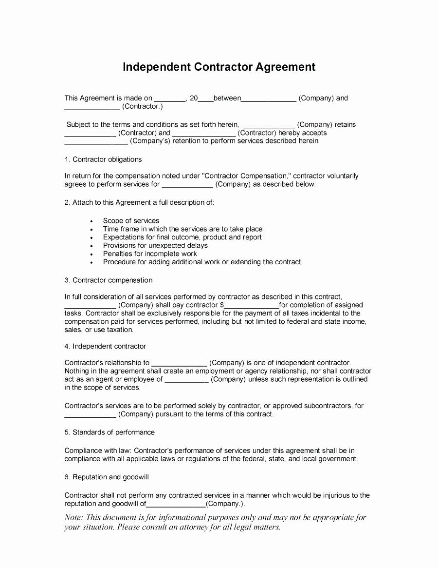 Construction Contract Template Free Download Elegant