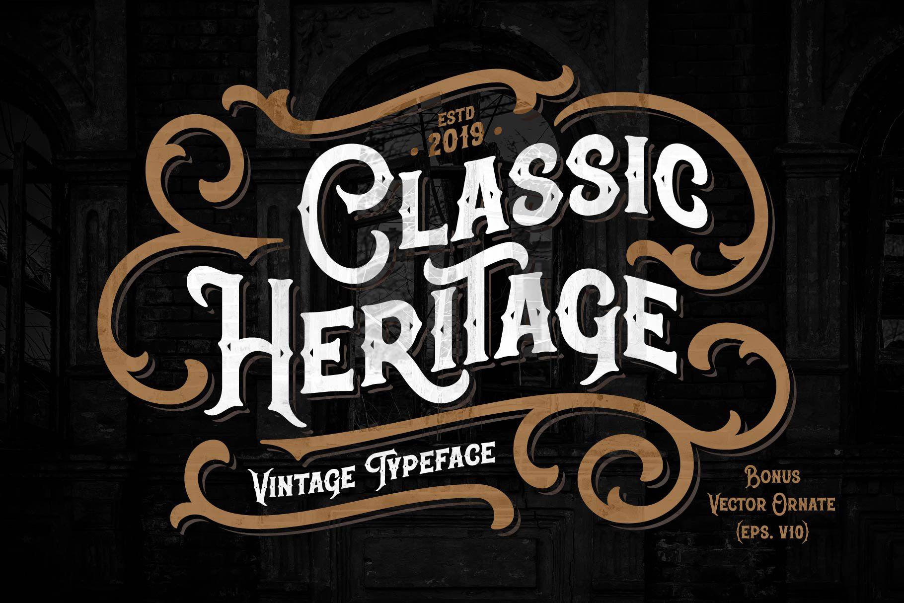 Classic Heritage Typeface 200989 Regular Font Bundles Best Free Script Fonts Typeface Free Script Fonts