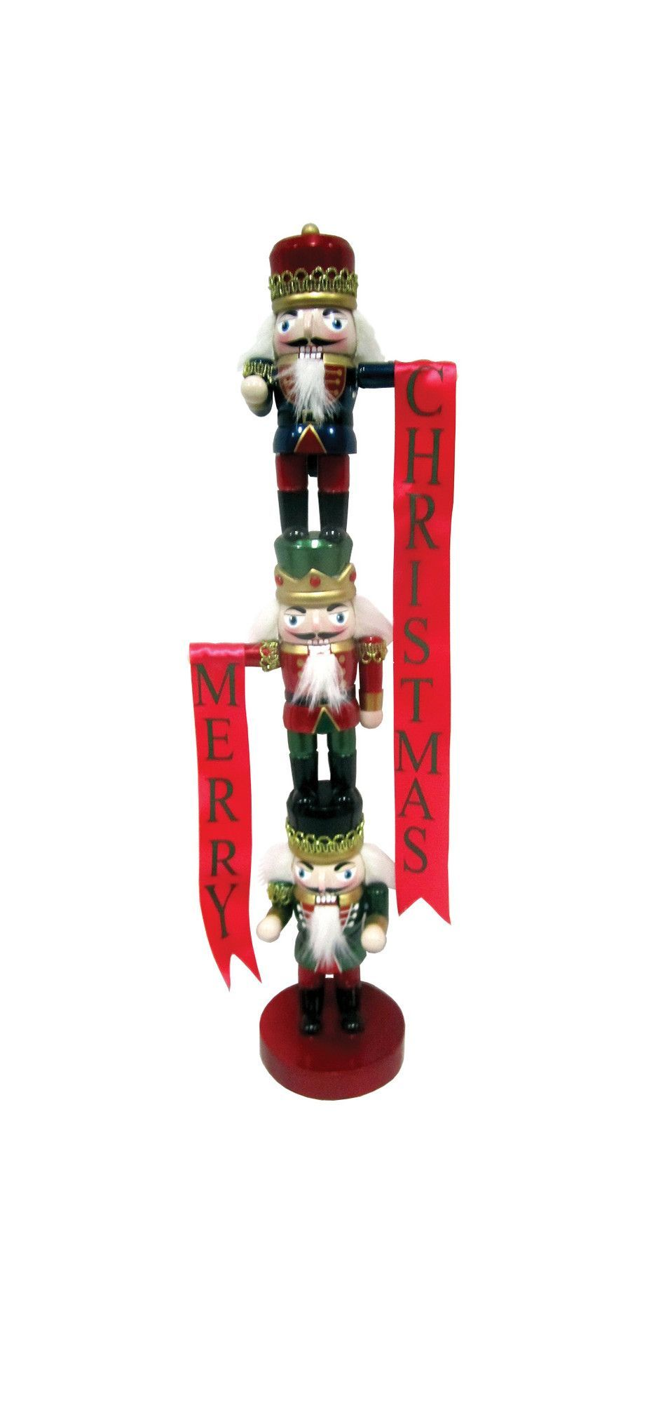 "19"" Stacked Guards Nutcracker"