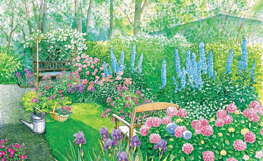 Ideen für lange, schmale Gärten Schmaler garten, Schmal und Gärten - garten gestalten vorher nachher