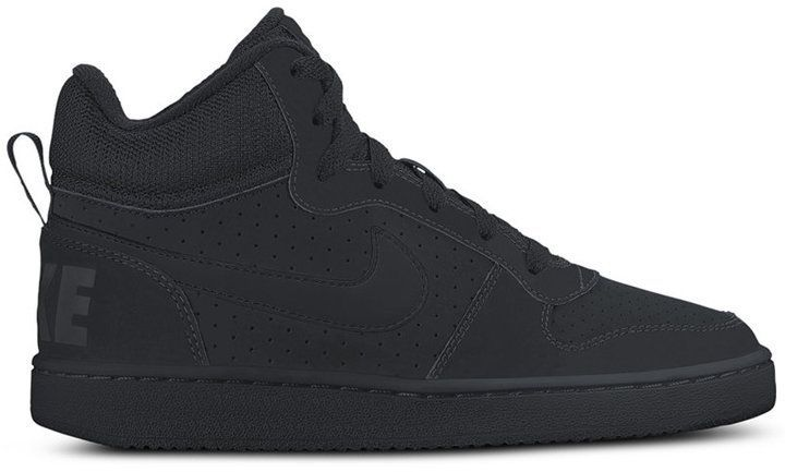 Nike Court Borough Mid Kids' shoes black white at Sport