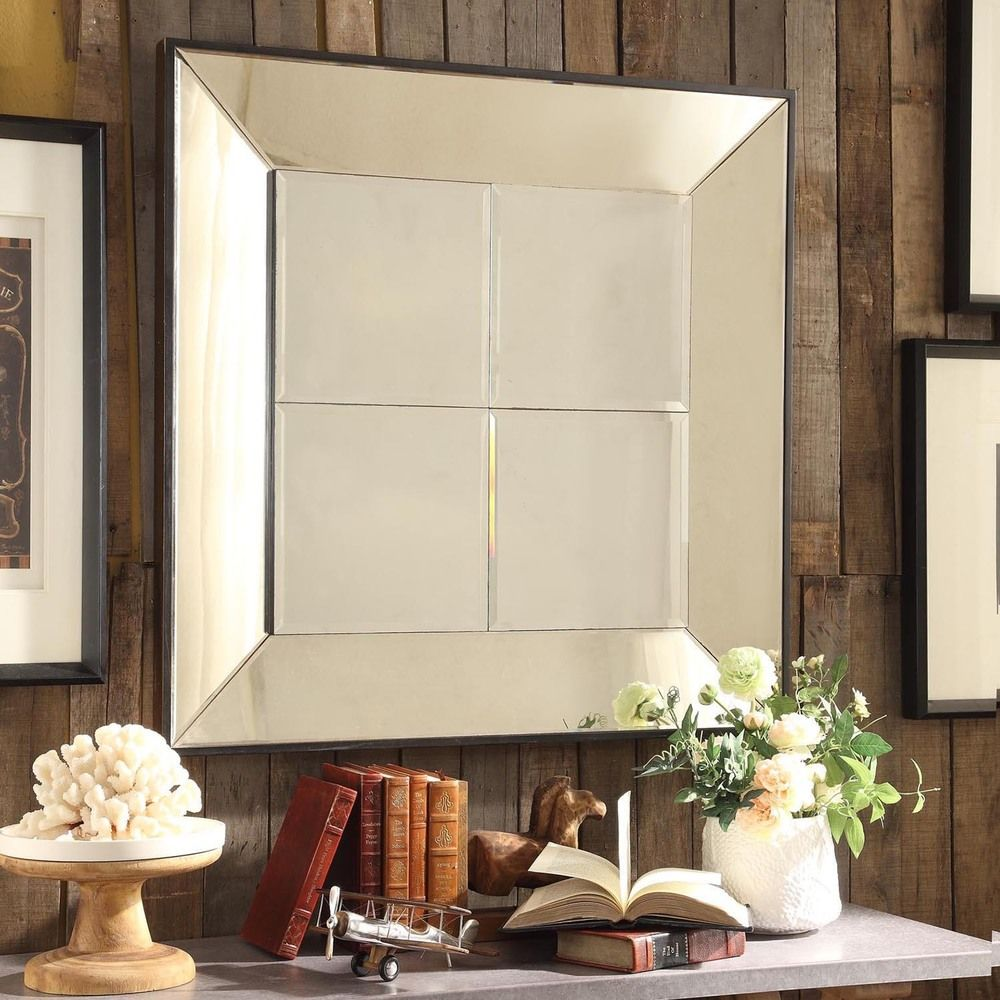 INSPIRE Q Dubois Beveled Multipanel Square Accent Wall Mirror - Overstock  Shopping - Great Deals