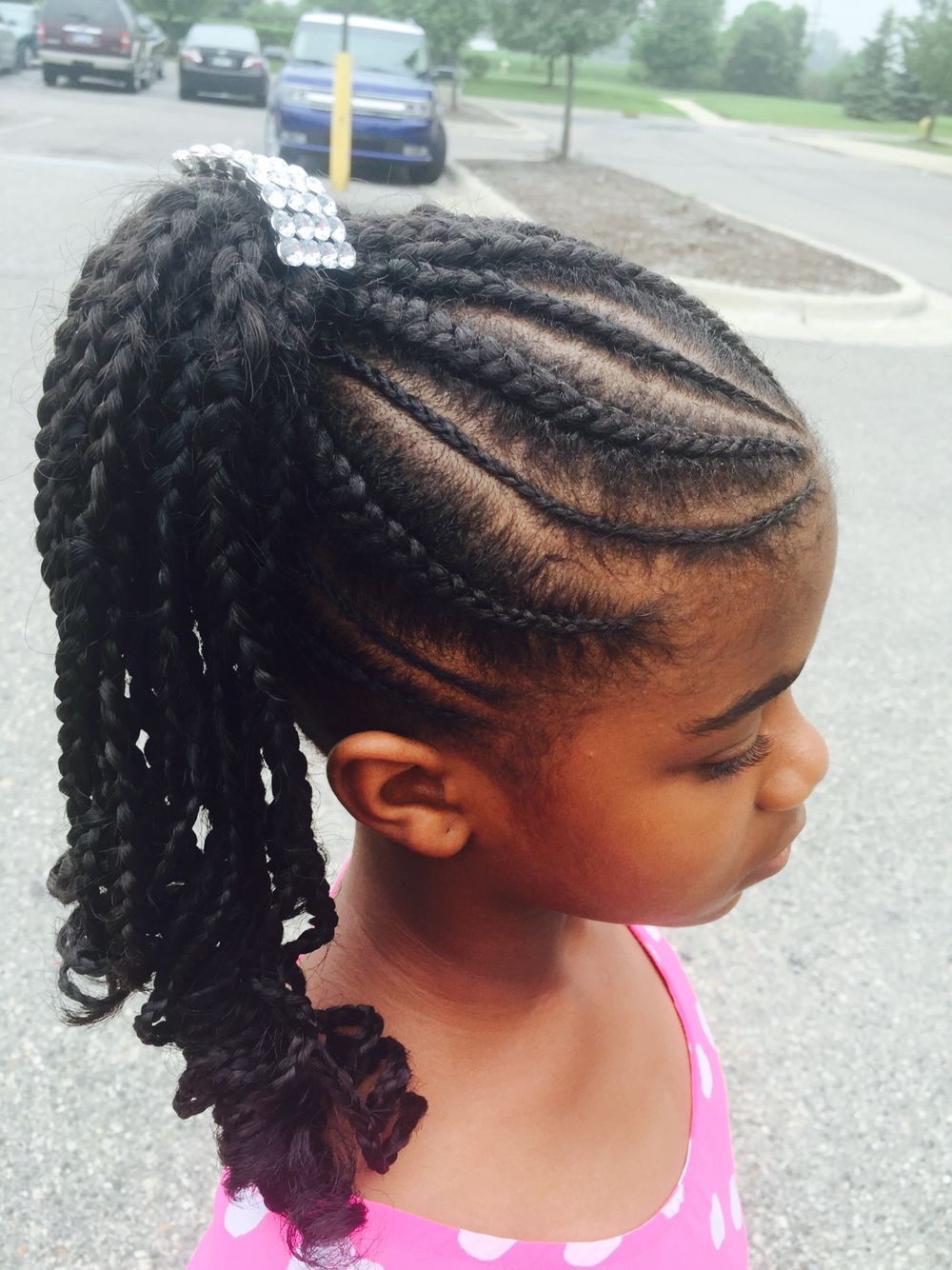 African American High Braid Pony Tail Ponytail Hairstyles