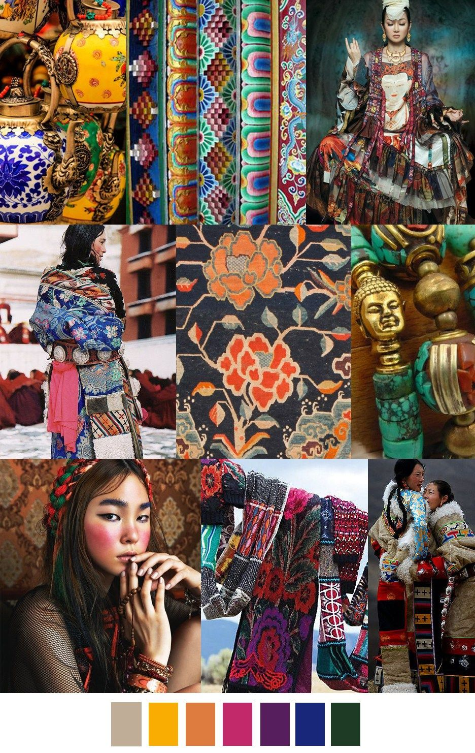 TIBETAN PLATEAU | Mood Boards & Trends | Color trends ...