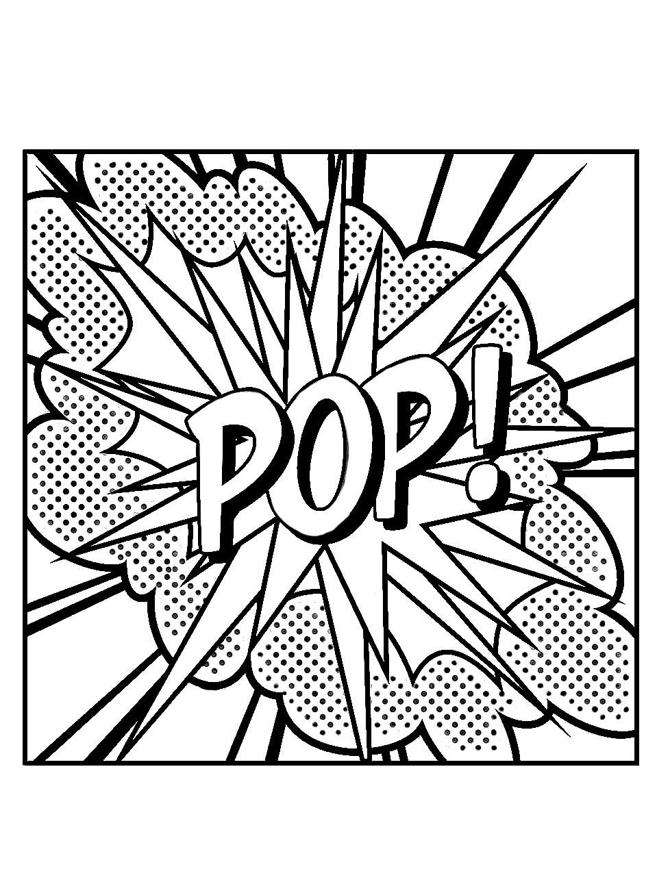 Colorear para adultos Pop art 20 Arte pop para niños