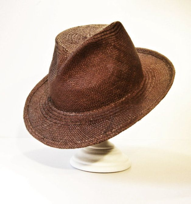 Mens Hats – Fedora Summer Hat in Panama Straw for men and wome – a unique product by Truman-Artmann on DaWanda