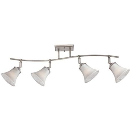 Quoizel Duchess Grey Marble Glass 4-Light Ceiling Fixture -