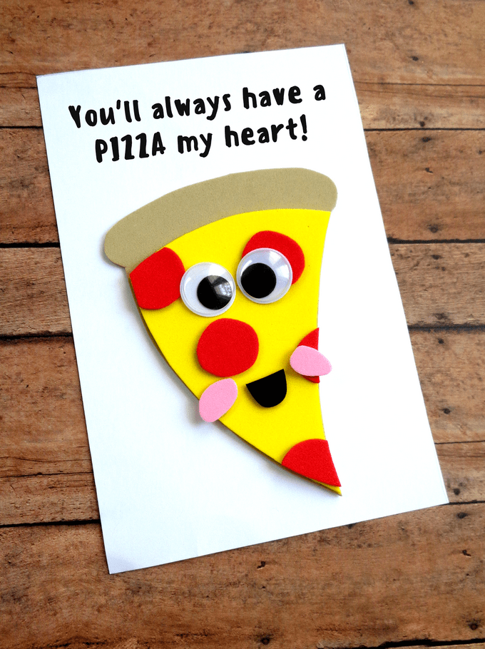 Father S Day Pizza Card Homemade Fathers Day Card Diy Father S Day Cards Fathers Day Crafts