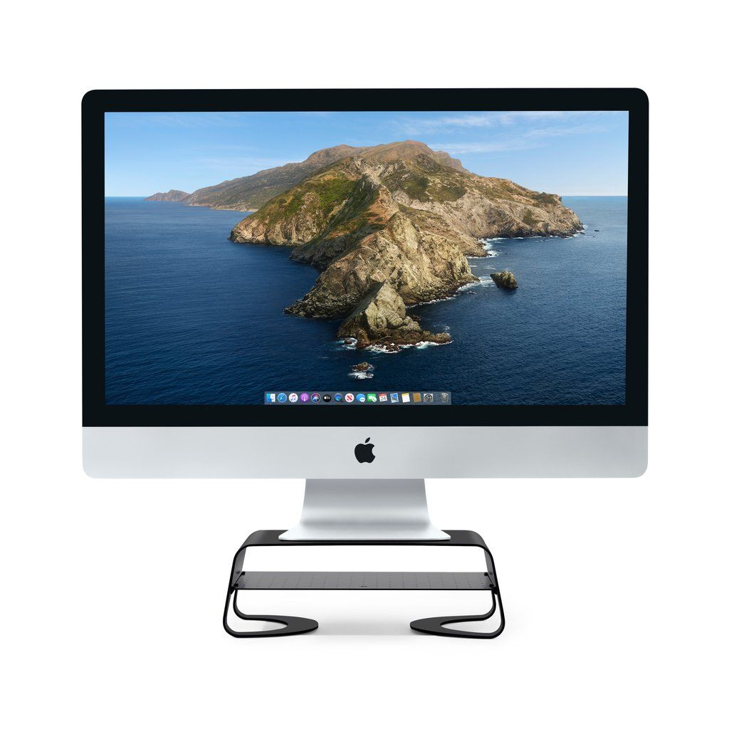 Curve Riser For Imac Displays In 2020 Imac Metal Shelves Mac Mini