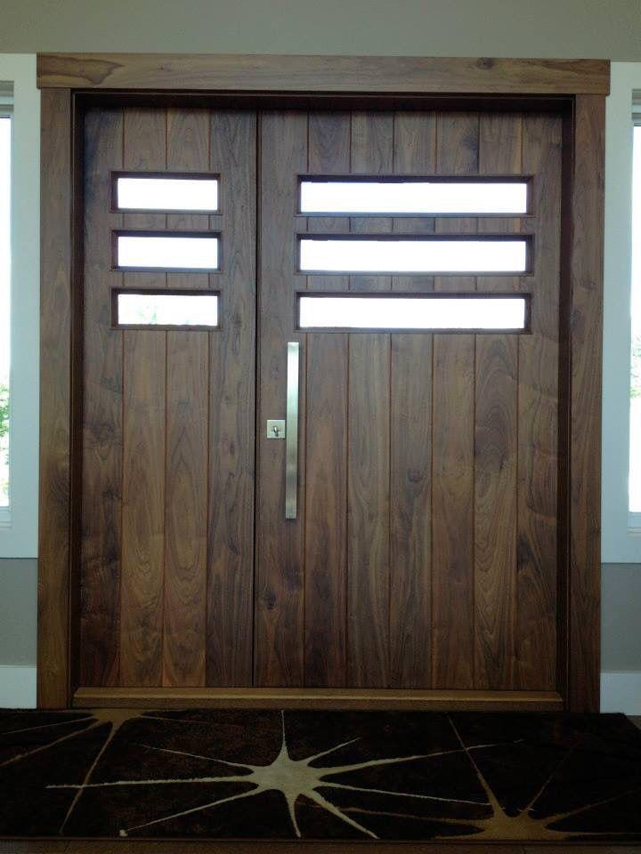 Custom Modern Walnut Front Door Front Door Home Decor Furniture