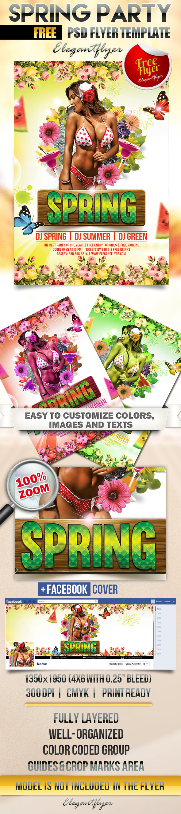 Spring  Free Flyer Psd Template  Facebook Cover HttpsWww