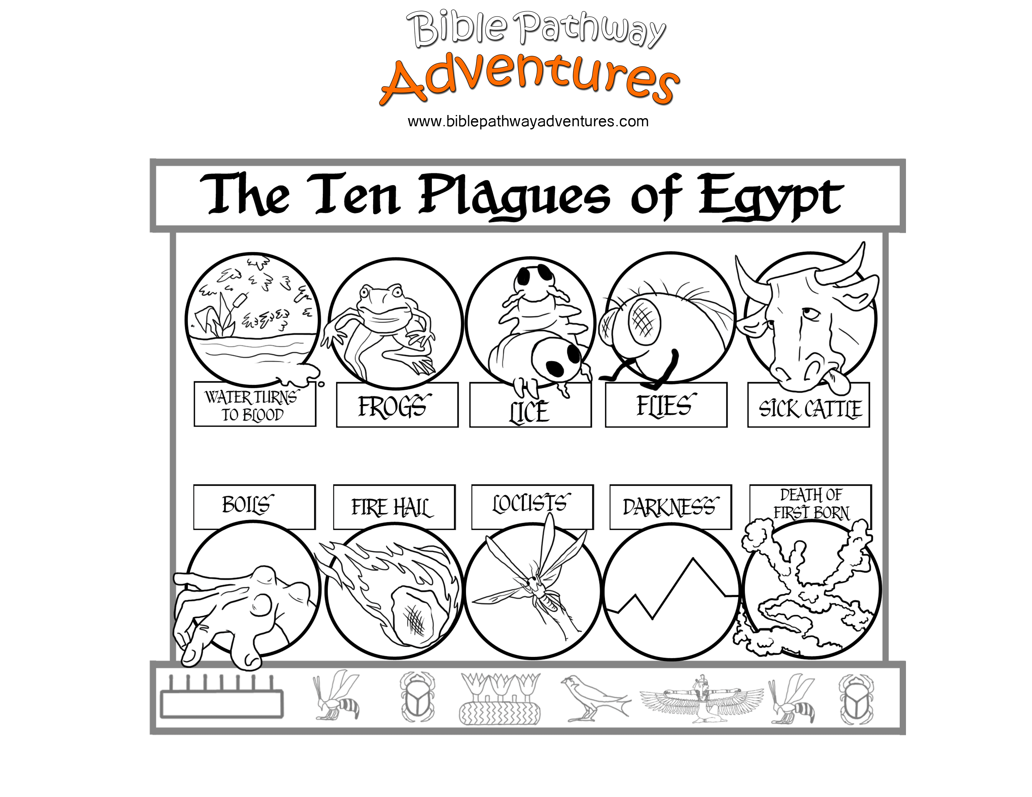 Ten Plagues of Egypt Coloring Page