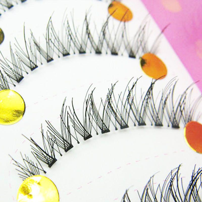 10 Pairs Natural Soft Eye Lashes Makeup Handmade Thick Messy Cross Fake False Eyelashes Voluminous Makeup