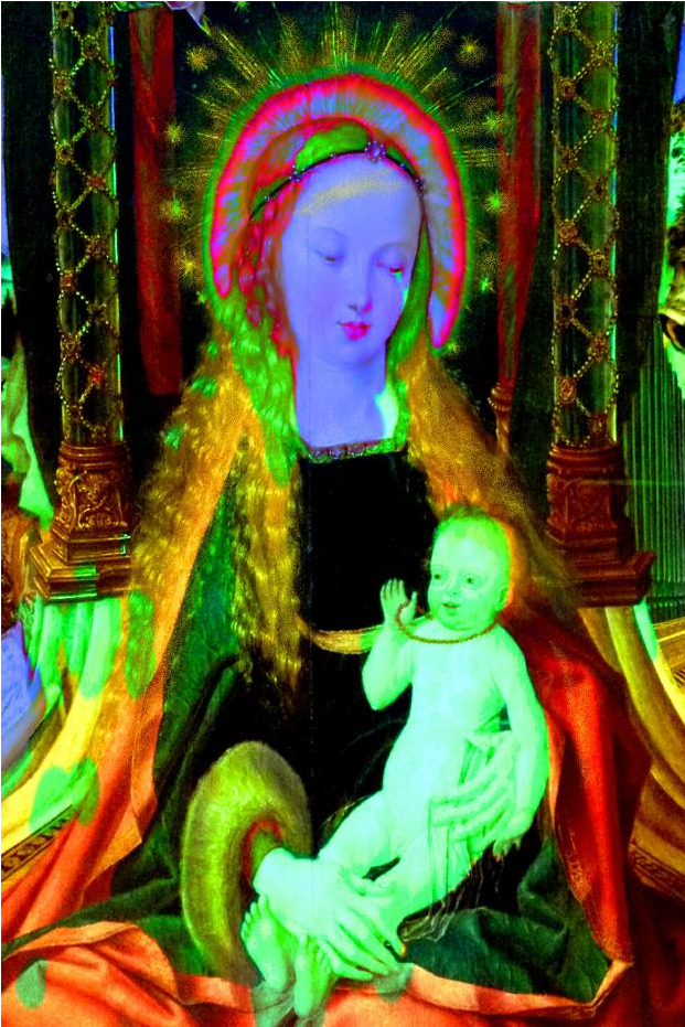 Annelies Štrba (b. 1947, Swiss), 2016, Madonna, Pigment print on canvas. © Annelies Štrba / ProLitteris Zürich