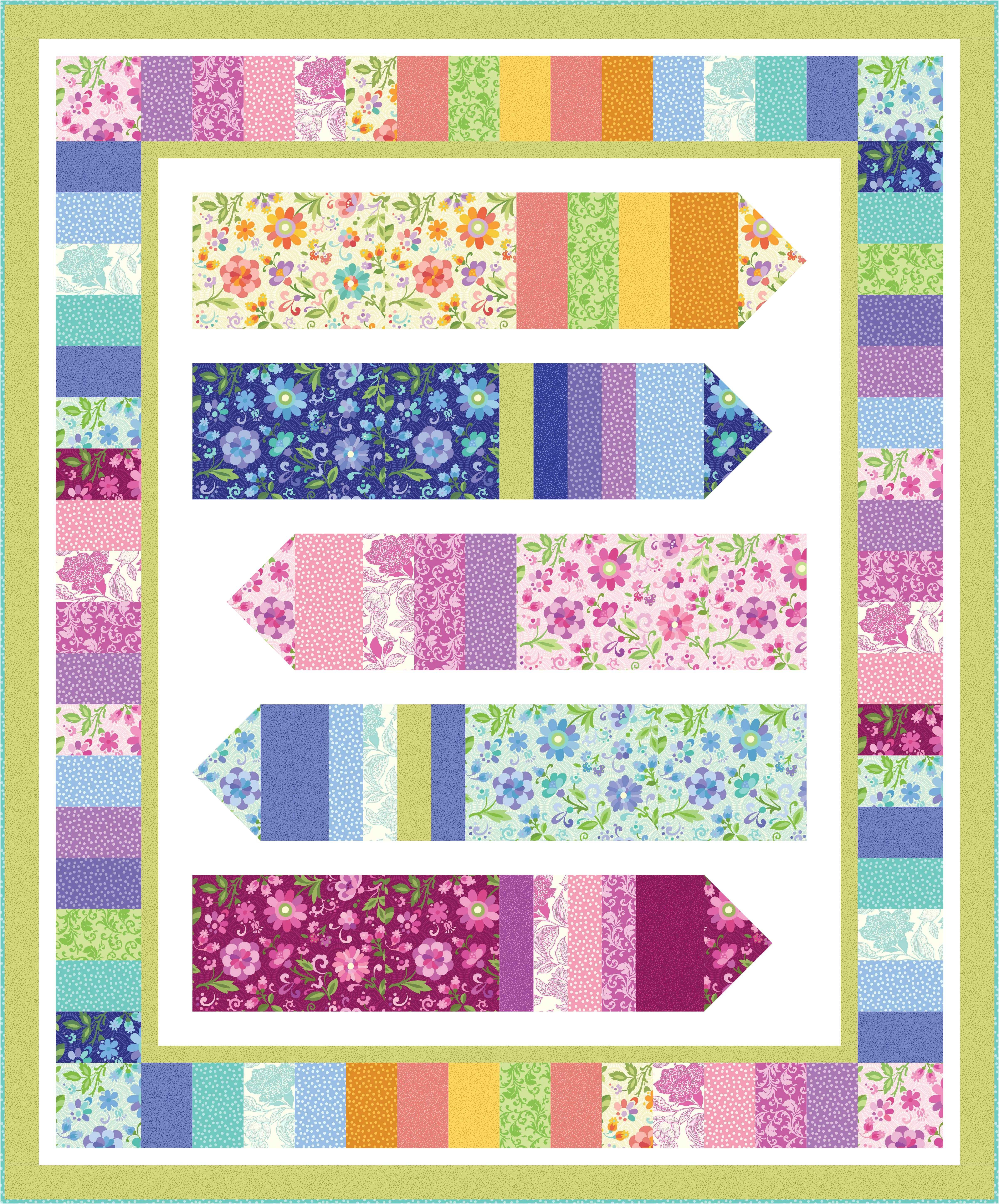 "Check out our FREE ""Candy Crayons"" quilt pattern using the"