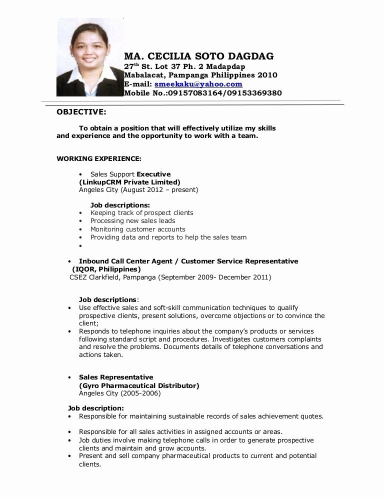 Call Center Jobs Description Resume Best Of Image Result For Objectives In Resume For Call Center No In 2020 Job Resume Samples Job Resume Examples Job Resume