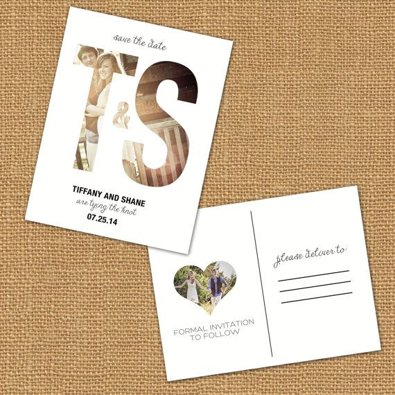 Photo Letter Save the Date Post Card Design Portfolio Pinterest - Formal Invitation Letters